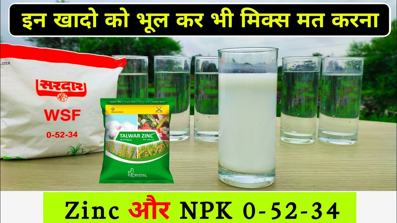 NPK & Zinc | 0-52-34 | Experiment | Fertilizer