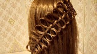 Лёгкая и красивая прическа Прическа в школу Бантики Прическа на распущенные волосы