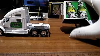 Heineken - Mula - Kenworth T 700 a escala 1:68 Auto-Colección Medellín
