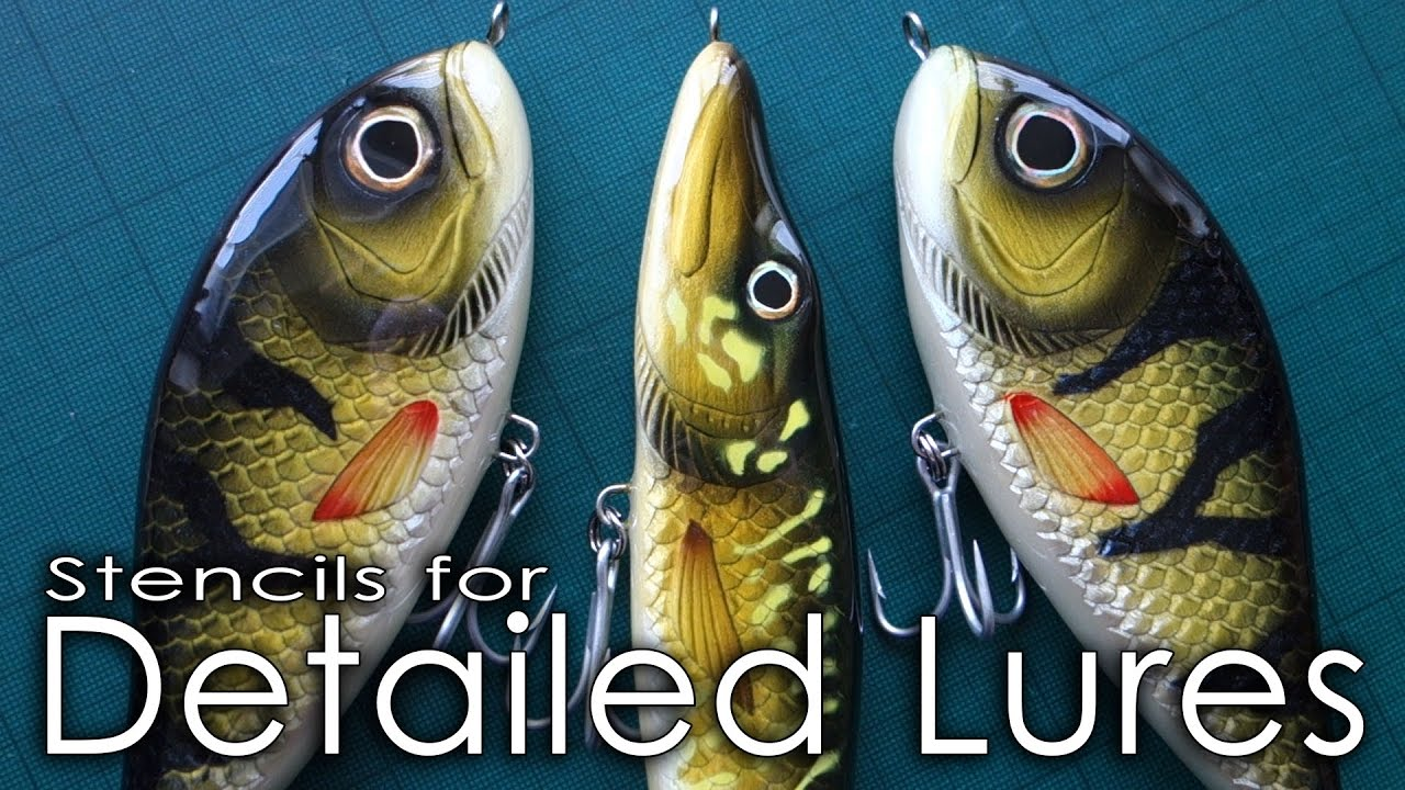 How to make stencils for detailed lures paul adams lure for Free fishing tackle giveaway