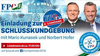 FPÖ-Steiermark-Wahlabschluss mit Norbert Hofer und Mario Kunasek