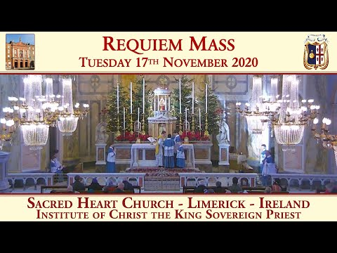 Tuesday 17th November 2020: Requiem Mass for the benefactors of the Sacred Heart Church