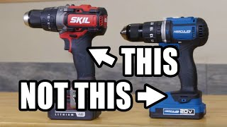 Buy This Instead of a Harbor Freight Drill | Skil vs Hercules