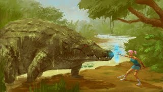 Raj the giant crocodile concept art process time lapse