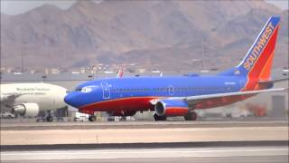 Las Vegas Windy Plane Spotting w/ Heavies!! HD