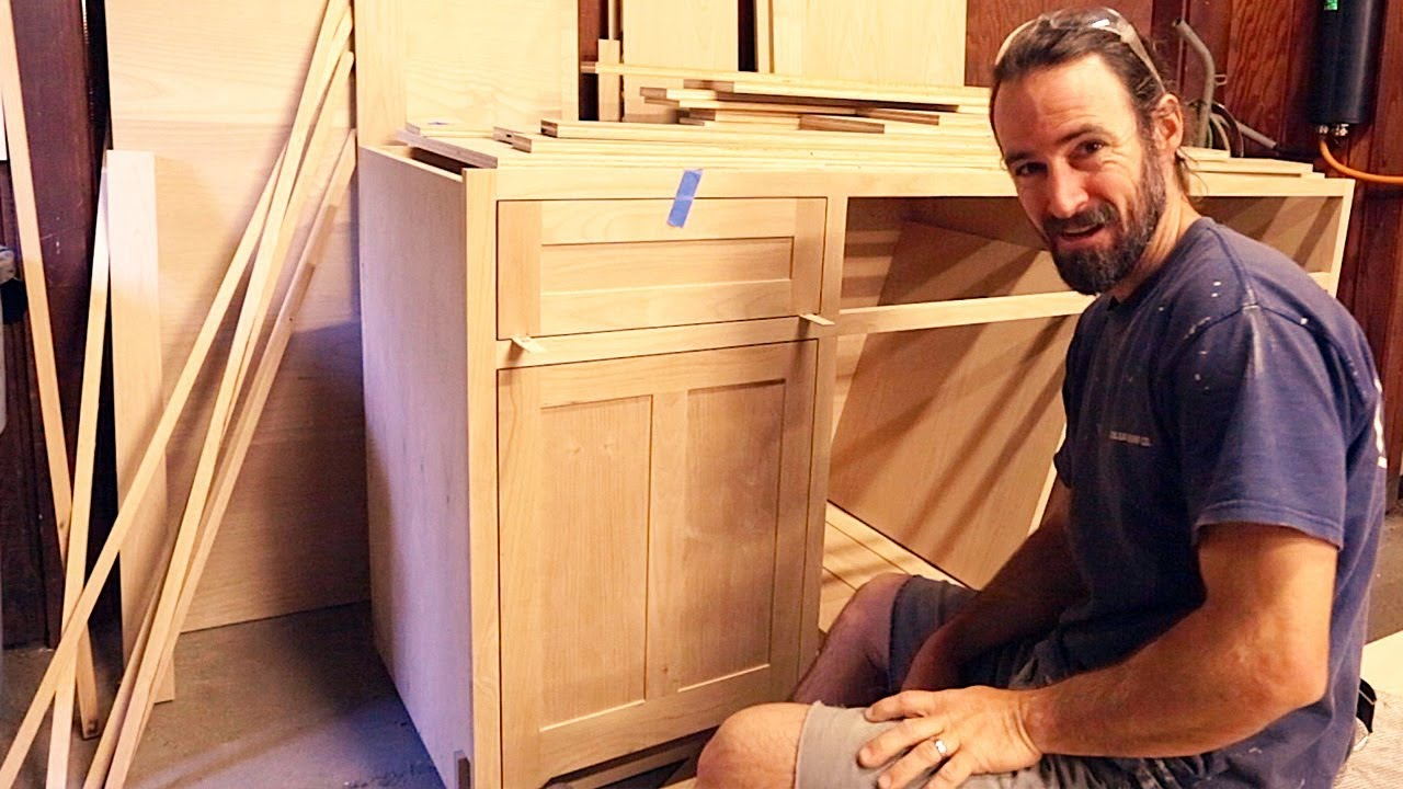 Making Perfect Inset Cabinets Diy Kitchen Cabinets Ep 7 Corbin S Treehouse