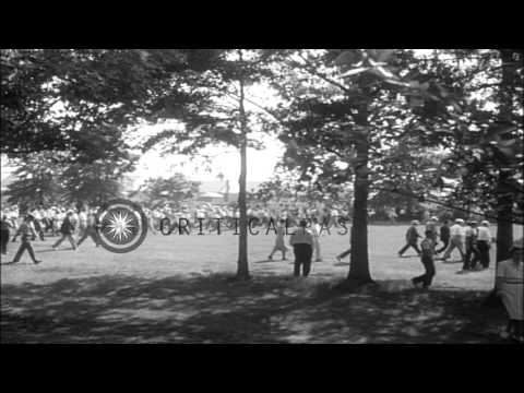 Babe Ruth and TY Cobb competes in a charity golfing match in Flushing NY. HD Stock Footage