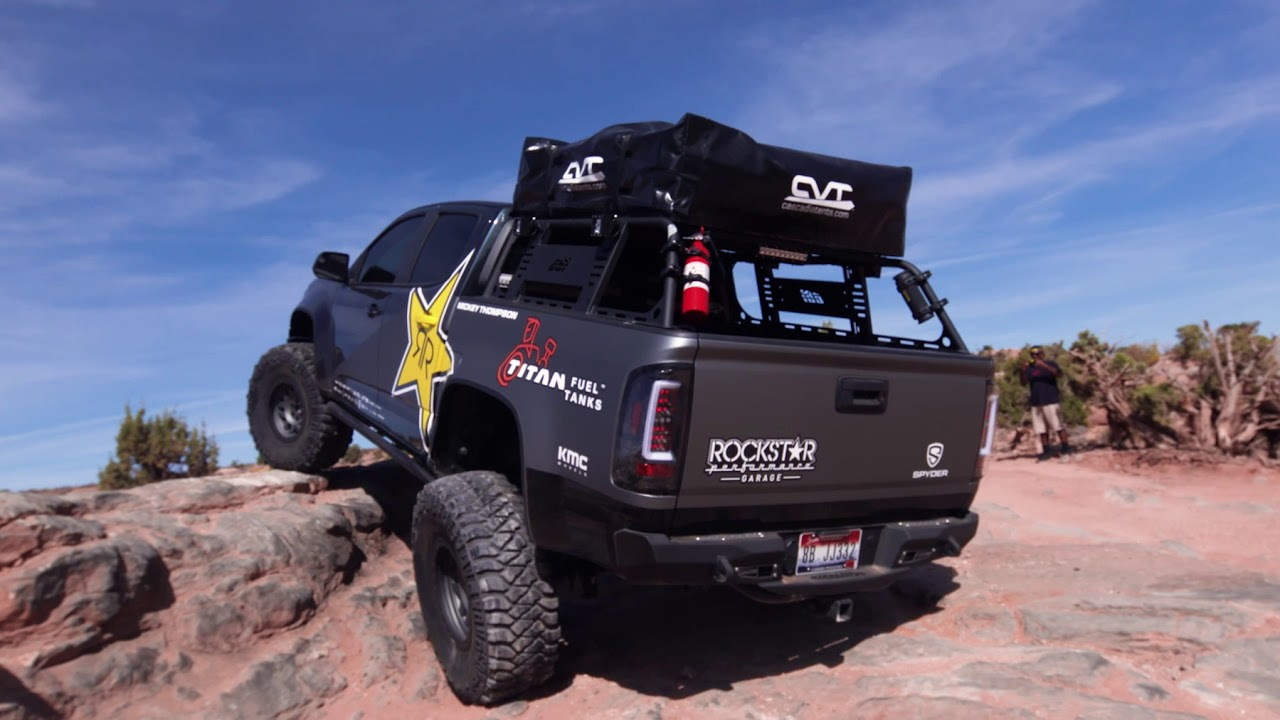 Rockstar Garage Wheels Moab in with Colorado ZR2 - YouTube
