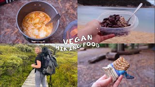 vegan hiking/camping food... 3 dąys camping as a vegan with no food cooler🥪🥙🍕