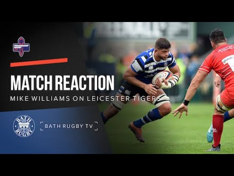 Post-match - Bath Rugby v Leicester Tigers - Mike Williams