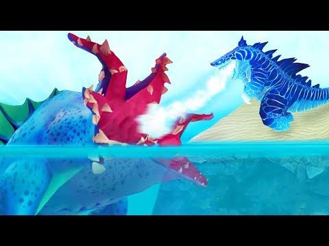АКУЛА КРАКЕН ПРОТИВ АКУЛЫ ГОДЗИЛЛЫ, ОБНОВЛЕНИЕ!   Hungry Shark Evolution
