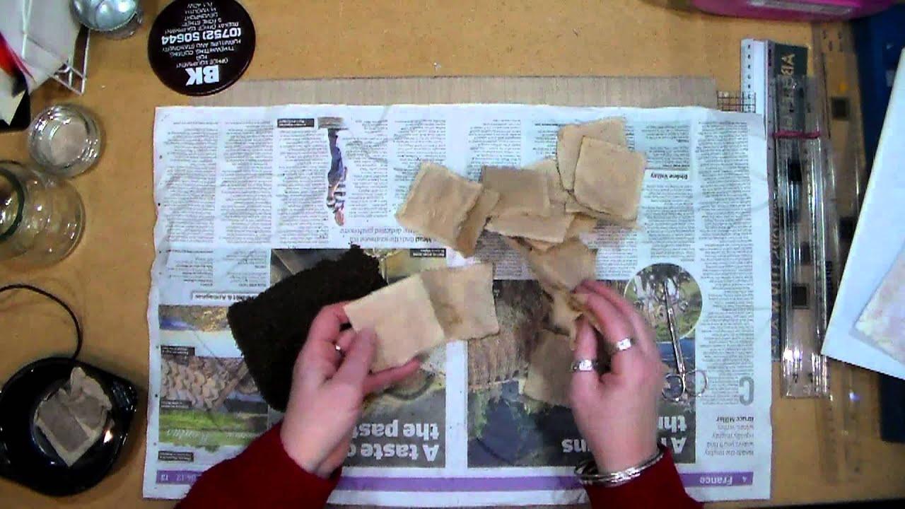 Painting On Used Tea Bags