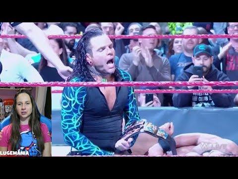 WWE Raw Shakeup 4/16/18 Jeff Hardy vs Jinder Mahal US Championship