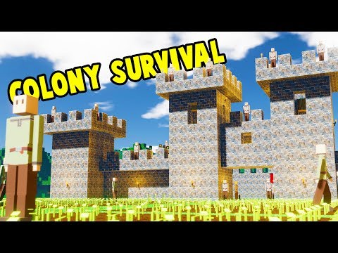 BUILDING AND RULING A HUGE KINGDOM! Become The King! - Colony Survival Gameplay