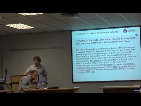 Nativism vs. Empiricism in Studying Language (Part 2): SAMWOP 3 Debate