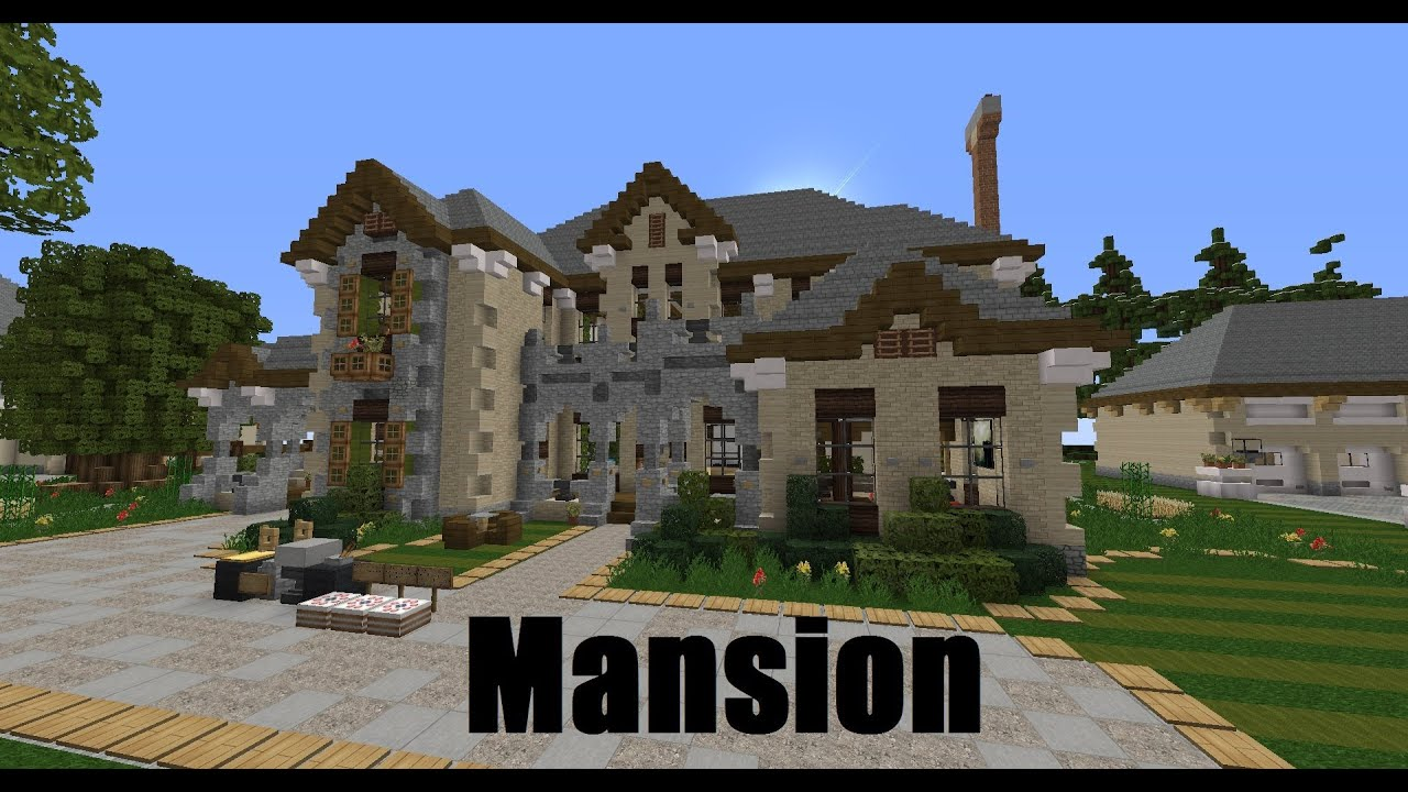 Minecraft Showcase - French Mansion - YouTube