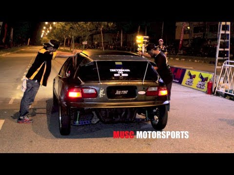 CAR DRAG RACE - VTEC PRO STREET - MALAYSIAN DRAG RACING 2013 Travel Video