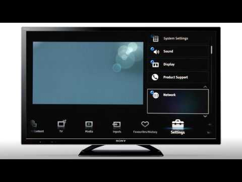How To Connect Your BRAVIA To A Wired Network