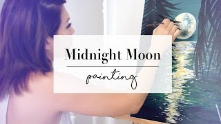 How To Paint A Midnight Moon | ANN LE