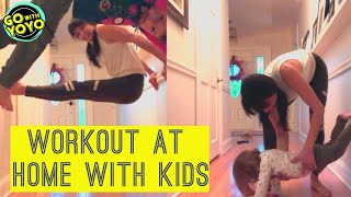 FAMILY FUN WORKOUT 💪EXERCISE AT HOME WITH KIDS - HOME WORKOUT