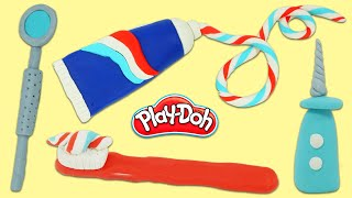How to Make Pretend Play Doh Toy Doctor Dentist Tools   Fun & Easy DIY Play Dough Arts and Crafts!