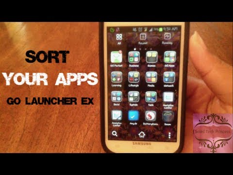 How to Automatically Sort Your Apps   GO Launcher EX Tutorial
