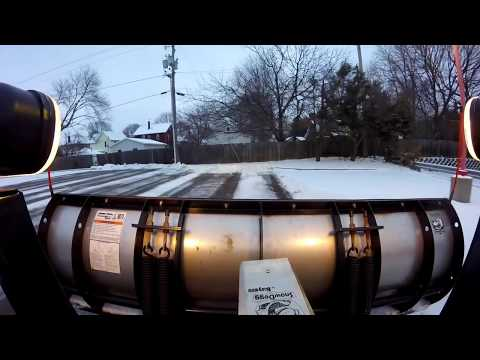 Snow Plowing Commercial lot from start to finish!!!