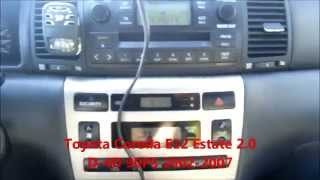 Toyota Corolla E12 2.0 D4D 1CD-FTV 90PS MT5 engine speed test RPM