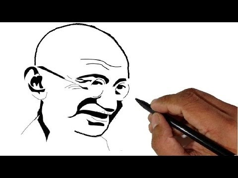 How To Draw Mahatma Gandhi Childrens Day Special YouTube