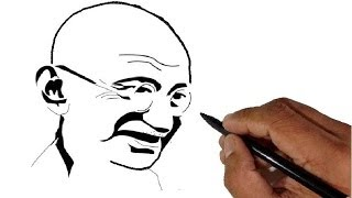 How to draw Mahatma Gandhi - Children