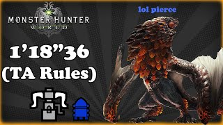 """[MHW PC] ★7 Bazelgeuse in the Field of Fire - HBG TA Rules - 1'18""""36"""