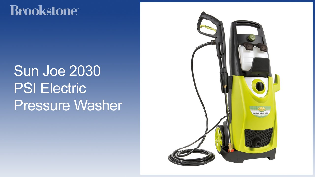 Sun Joe 2030 Psi Electric Pressure Washer Youtube