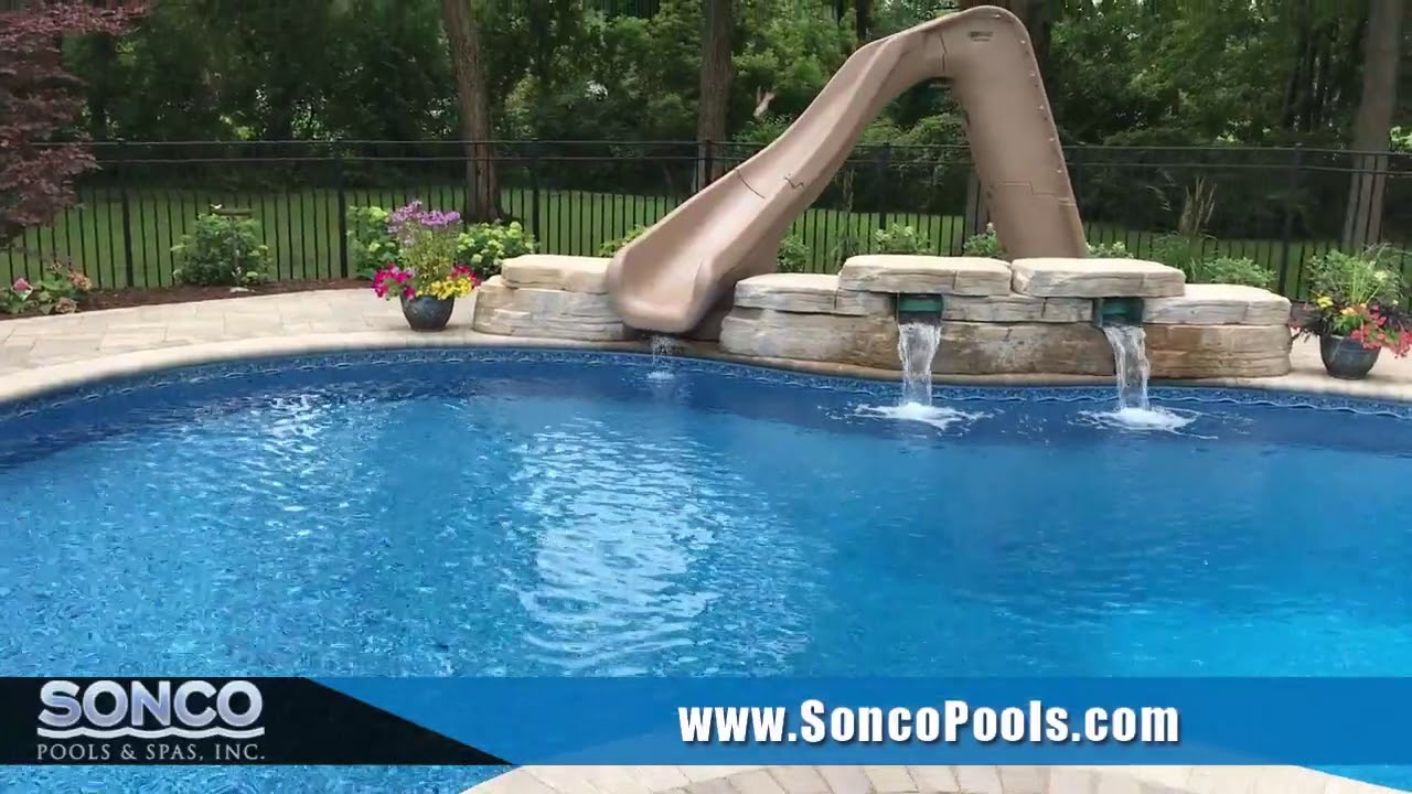 vinyl liner swimming pool installation project sycamore il youtube