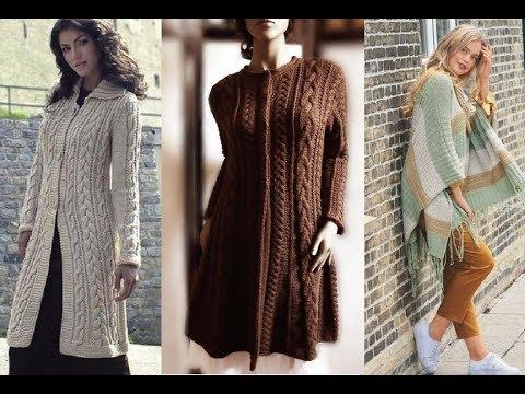 Подборка чудесных моделей пальто, пончо, накидок с полным описанием и схемами
