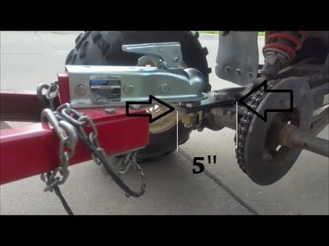 Custom Trailer Ball Hitch For A Polaris Atv Youtube