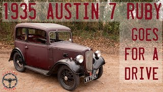 1935 Austin 7 Ruby Goes for a drive