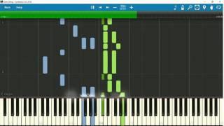 [Piano Tutorial] Tập đánh Piano bài hát Đêm Đông - Nguyễn Văn Thương với Synthesia