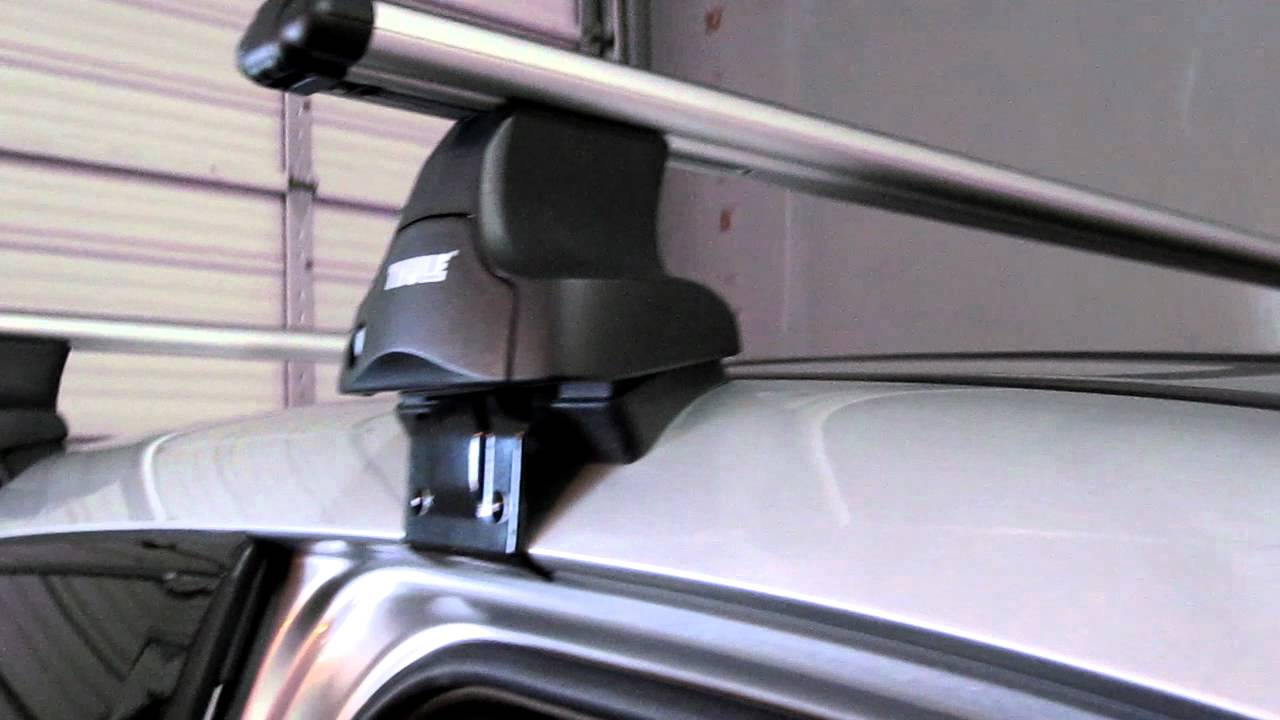 Acura MDX Thule 480R Rapid Traverse RB60 KIT1549 by Rack Outfitters - YouTube