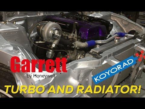 Pt.7 | Project Build Giveaway | 2JZ Swapped 240sx | Koyo Radiator Install - Garrett Turbo!