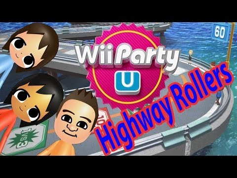 ABM: WII PARTY U !! (HighWay Rollers) GAMEPLAY!! HD !!