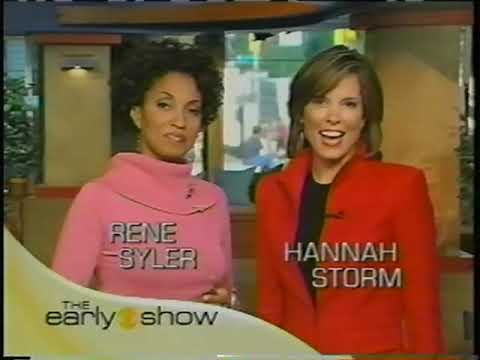 September 2004 - Bumpers for Angela Buchman Indianapolis Weather & 'CBS This Morning'