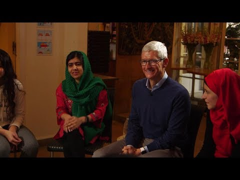 Apple's Tim Cook and Malala team up to fight for girls' education