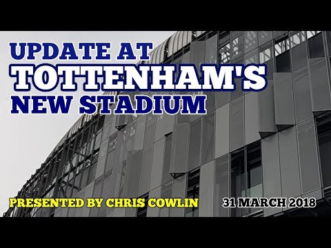 UPDATE AT TOTTENHAM'S STADIUM: Roof Lift, NFL Pitch, West Stand, WHL Station: 31 March 2018
