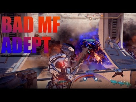 Mass Effect Andromeda: Bad Ass Adept / Sentinel Build - Test On Hardcore And Insanity