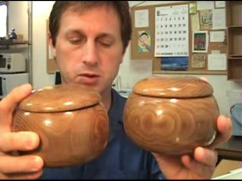 Vintage Japan Go Wooden Bowls - Slate & Seashell Stones
