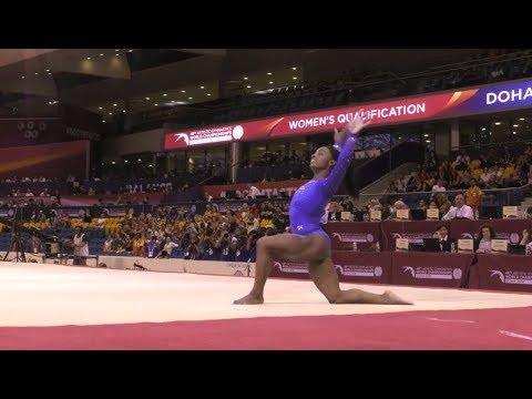 Simone Biles Scores 60 in Quals at 2018 Worlds