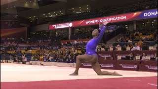 Simone Biles Scores 60.965 in Quals at 2018 Worlds