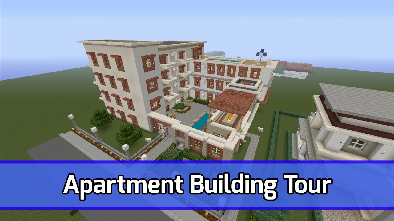Minecraft Apartment Building Complex Tour City Texture Pack