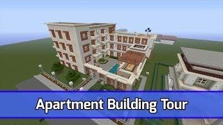 Minecraft Apartment Building / Complex Tour - City Texture Pack