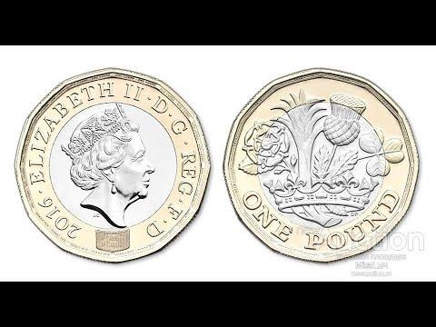 Великобритания  1 фунт 2016 год Биметалл